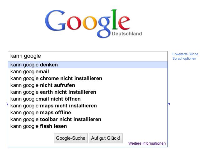 Kann Google denken?