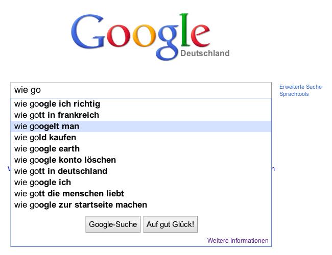Wie googelt man?